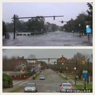 New Bern before n after Hurricane Pic